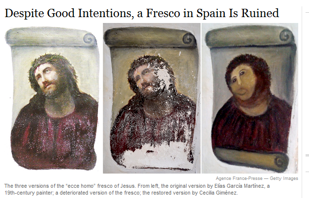 Despite Good Intentions, a Fresco in Spain Is Ruined
